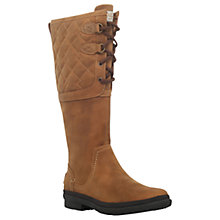 Buy UGG Deco Quilt Knee High Boots, Brown Online at johnlewis.com