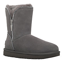 Buy UGG Florence Zip Ankle Boots, Grey Online at johnlewis.com