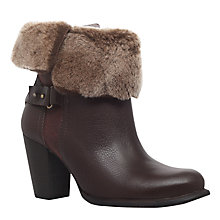 Buy UGG Jane Block Heeled Ankle Boots, Dark Brown Online at johnlewis.com