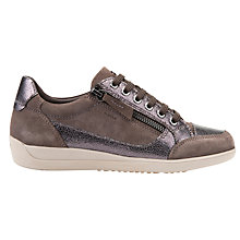 Buy Geox Myria Lace Up Trainers, Chestnut Online at johnlewis.com