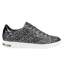Buy Geox Jaysen Metallic Glitter Lace Up Trainers, Anthracite Online at johnlewis.com