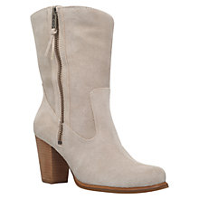 Buy UGG Lynda Block Heeled Ankle Boots, Beige Online at johnlewis.com