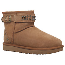 Buy UGG Neva Deco Stud Ankle Boots, Tan Online at johnlewis.com