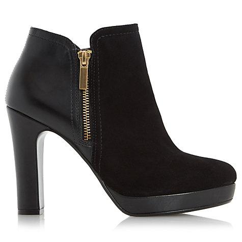 buy dune oscar high heel ankle boots black suede lewis