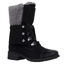 Buy UGG Gradin Lace Up Calf Boots, Black Online at johnlewis.com