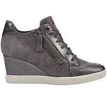 Buy Geox Eleni Wedge Heeled Trainers Online at johnlewis.com