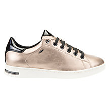 Buy Geox Jaysen Lace Up Trainers, Champagne Online at johnlewis.com
