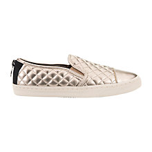 Buy Geox New Club Material Slip On Trainers, Champagne Online at johnlewis.com