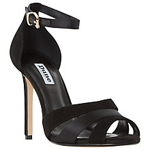 Buy Dune Magpie Stiletto Heeled Sandals, Black/White Online at johnlewis.com