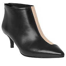 Buy L.K. Bennett Gigi Pointed Toe Ankle Boots, Black/Almond Online at johnlewis.com