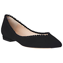 Buy L.K. Bennett Florence Pom Pom Trim Pumps, Black Online at johnlewis.com