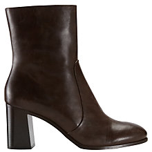 Buy Jigsaw Aysha Block Heeled Ankle Boots Online at johnlewis.com