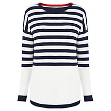 Buy Oasis Stripe Bridgette Top, Multi Online at johnlewis.com