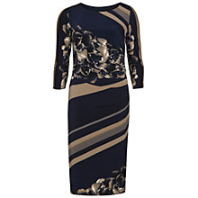 Buy Gina Bacconi Stripe Rose Jersey Dress, Navy/Beige Online at johnlewis.com