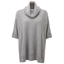 Buy Pure Collection Jaqueline Cashmere Poncho, Classic Grey Online at johnlewis.com