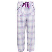 Buy Cyberjammies Elsie Check Pyjama Bottoms, Blue/Purple Online at johnlewis.com