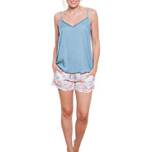 Buy Cyberjammies Olivia Floral Camisole And Short Set, Pink/Aqua Online at johnlewis.com