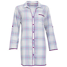 Buy Cyberjammies Elsie Check Night Shirt, Blue/Purple Online at johnlewis.com