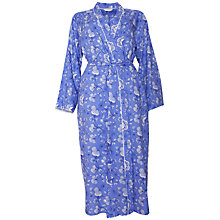 Buy Cyberjammies Vienna Floral Print Long Dressing Gown, Blue/Multi Online at johnlewis.com