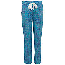 Buy Cyberjammies Camilla Geo Print Pyjama Bottoms, Teal Online at johnlewis.com