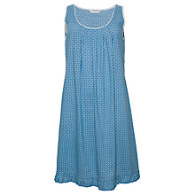 Buy Cyberjammies Camilla Geo Print Chemise, Teal Online at johnlewis.com
