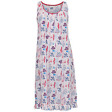 Buy Cyberjammies Heidi Floral Print Chemise, Red/Blue Online at johnlewis.com