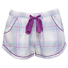 Buy Cyberjammies Elsie Check Shorts, Blue/Purple Online at johnlewis.com