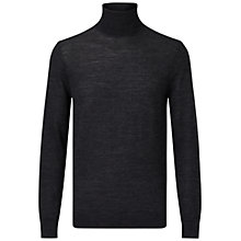 Buy HUGO by Hugo Boss San Antonio Polo Neck Jumper, Charcoal Online at johnlewis.com