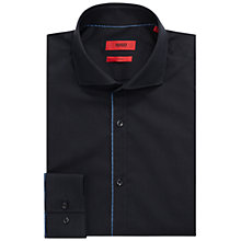 Buy HUGO by Hugo Boss C-Jimmy Fil a Fil Slim Fit Shirt, Navy Online at johnlewis.com