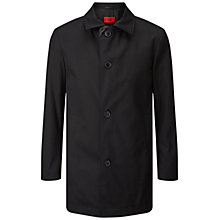 Buy HUGO by Hugo Boss C-Dais Water-Repellent Twill Coat, Black Online at johnlewis.com