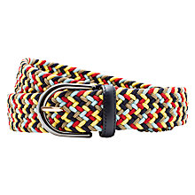 Buy Thomas Pink Carisbrooke Woven Belt, Blue/Multi Online at johnlewis.com