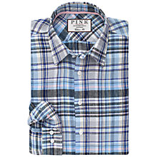 Buy Thomas Pink Crawford Classic Fit Shirt, Grey/Pink Online at johnlewis.com