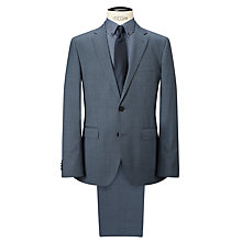 Buy HUGO by Hugo Boss C-Jeffrey/C-Simmons Check Wool Regular Fit Suit, Open Blue Online at johnlewis.com