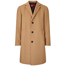 Buy HUGO by Hugo Boss Stratus Overcoat, Camel Online at johnlewis.com