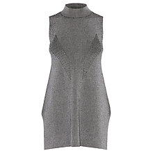 Buy Karen Millen Side Split Knit Top, Grey Online at johnlewis.com