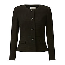 Buy Precis Petite Isabella Textured Jacket, Black Online at johnlewis.com