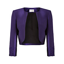 Buy Precis Petite Isla Shimmer Cropped Jacket, Purple Online at johnlewis.com