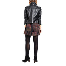 Buy hush Onyx Leather Jacket, Black Online at johnlewis.com