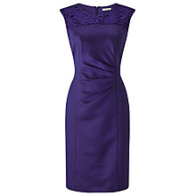 Buy Precis Petite Isla Shimmer Lace Shift Dress, Purple Online at johnlewis.com