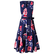 Buy Precis Petite Rosa Print Flared Dress, Blue/Multi Online at johnlewis.com