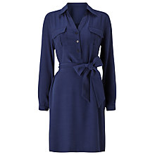 Buy Precis Petite Aubree Tie Shirt Dress, Navy Online at johnlewis.com