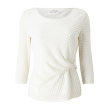 Buy Precis Petite Mia Twist Detail 3/4 Sleeve Top, Ivory Online at johnlewis.com