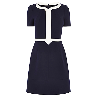 Karen Millen Ponte Roma Dress Navy £145.00 AT vintagedancer.com