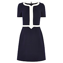 Buy Karen Millen Ponte Roma Dress, Navy Online at johnlewis.com