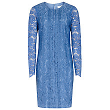 Buy Reiss Suki Lace Shift Dress, Azure Online at johnlewis.com