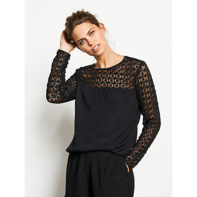 hush Angelina Blouse, Black