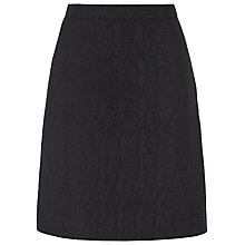 Buy Reiss Mendes Fluted Skirt, Black Online at johnlewis.com