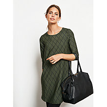 Buy hush Diamond Annabelle Dress, Black/Sage Online at johnlewis.com