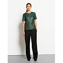 Buy hush Steph Leather Top, Forest Online at johnlewis.com