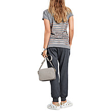 Buy hush Metallic Striped T-Shirt, Mid Grey Marl, Metallic Gold Online at johnlewis.com